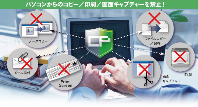 重要ファイルが社外へ流出するリスクを解消